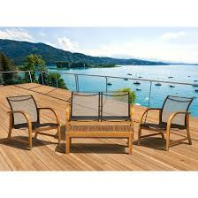 Sling Patio Chairs Gables 4 Piece Wood Sling Patio Conversation Furniture Set Target