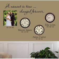 wedding quotes about time a moment in time changed forever wall decal