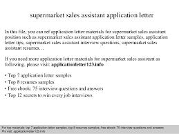 Resume Application Letter Sample by Supermarket Sales Assistant Application Letter