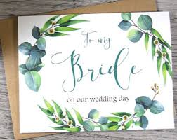 To My Bride On Our Wedding Day Card Color To My Bride On Our Wedding Day Card To My Bride Card