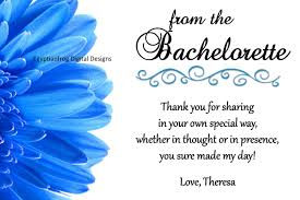 bachelorette or bridal shower thank you note colors can be