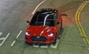 hyundai veloster 2019 hyundai veloster breaks cover during commercial shoot