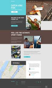 Fishing Template fishing site template