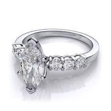marquise diamond engagement ring marquise diamond sidestones engagement ring 14k white gold