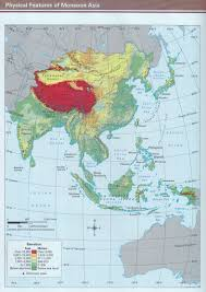 Asia Physical Map by Tabbara Grade 6 Geography Resources