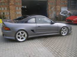 lexus is200 turbo umbau heckansicht mr2