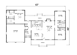 one level country house plan admirable bedroom ranch floor plans