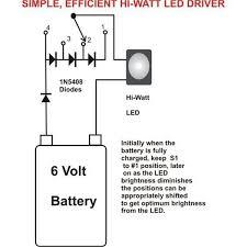 simplest efficient 1 watt led driver circuit circuit diagram centre