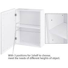 wall mounted kitchen storage cupboards gymax bathroom mirror cabinet wall mounted kitchen medicine