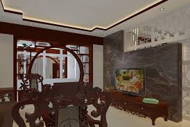 Chinese Living Room Chinese Living Room Wood Carving Rendering 3d House