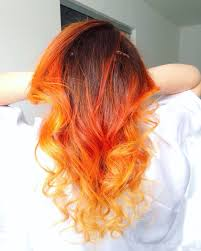 ombre orange and yellow by nayara neves hair pinterest