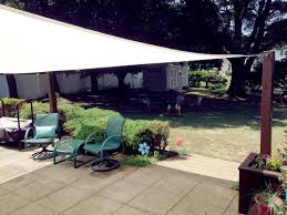 Sail Canopy For Patio Diy Shade Sail Installation Thrifty Way To Get More Shade