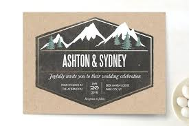 mountain wedding invitations awesome mountain themed wedding invitations or rustic mountain
