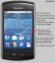 themes mobile black berry free appleberry theme for the blackberry storm crackberry com