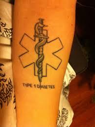 health alert tatoos on the medical alert symbol i love mine