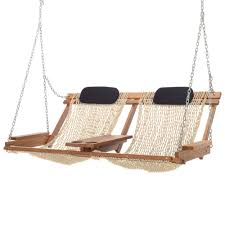 double cumaru porch swing
