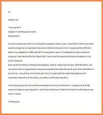 job resignation letter resume name