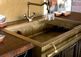 Stylish Brass Sinks With A Retro Look - Brass kitchen sink
