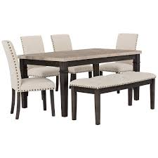 city furniture portia dark tone marble table 4 chairs u0026 bench