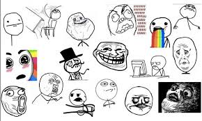 Meme Face List - post rage faces in your facebook status message with meme timeline