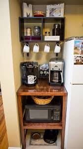 organize apartment kitchen love how this diy microwave coffee pet station turned out diy