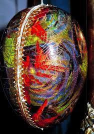 vintage paper mache easter eggs egg cellent antique paper mache spider web flickr