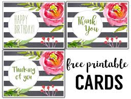 birthday cards free free printable greeting cards thank you thinking of you birthday