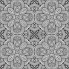 decorative modern geometric seamless pattern ornament illustration