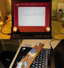 modder turns laptop display into functional etch a sketch techeblog