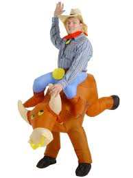 inflatable bullrider halloween costume