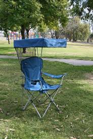 the mac sports bazaar captain chair with canopy in blue