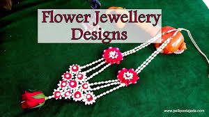 flower necklace designs images Flower jewellery designs necklace ear rings bracelets jpg