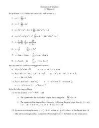 worksheet 75 first derivative test