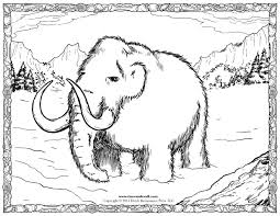 wooly mammoth coloring page woolly mammoth coloring page free
