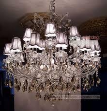 shade chandelier with crystals ideas for home decoration