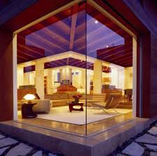 interior delightful glass wall design dream homes with high