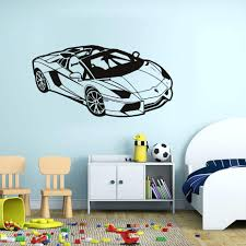 wall decor fascinating race car wall decor inspirations race car 45 splendid classic race car wall decal pvc vinyl creative mural automotive decals sofa living room