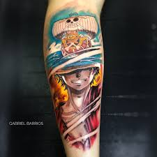 one piece tattoo picture luffy onepiece