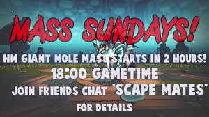 runescape 2017 hm mole mass starting soon join friends