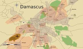 Palmyra Syria Map by Battle Of Damascus 2012 Wikipedia