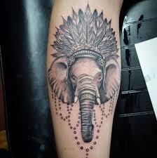 indian headdress tattoo on ribs collection of 25 elephant headdress tattoo on thigh