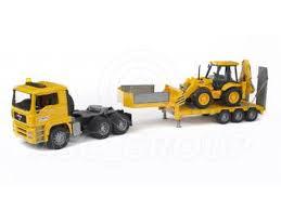 bruder toys 02776 pro series man tga low loader with jcb 4cx