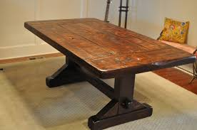Rustic Kitchen Table Sets Rustic Trestle Dining Table Reclaimed Wood Distressed Rustic