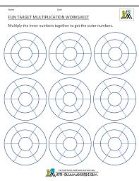 printable christmas targets fun multiplication worksheets to 10x10 target worksheet blank color