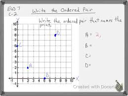 Graphing Ordered Pairs Worksheet Write The Ordered Pair 6th Grade Youtube