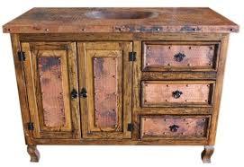 Rustic Vanity Table Dallas Designer Furniture Copper Top Rustic Vanity