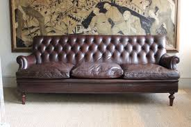 Antique Leather Sofas An Italian Buttoned Leather Sofa Circa 1900 Leather Armchairs
