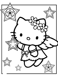 coloring page of a kitty pretentious idea kitty coloring pages hello for girls kids 1992
