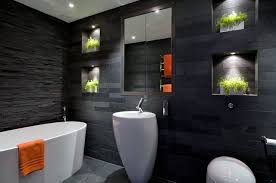 modern marble wall vanity designs black and white bathroom ideas