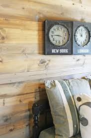 painting knotty pine walls wood feature walls new pine planks stained to look like salvaged